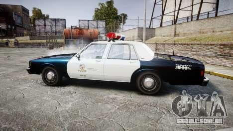 Chevrolet Impala 1985 LAPD [ELS] para GTA 4 esquerda vista