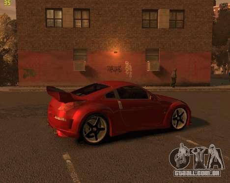 Nissan 350Z para GTA 4 traseira esquerda vista