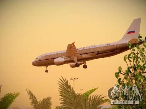 Airbus A320-214 Aeroflot Retrojet para vista lateral GTA San Andreas