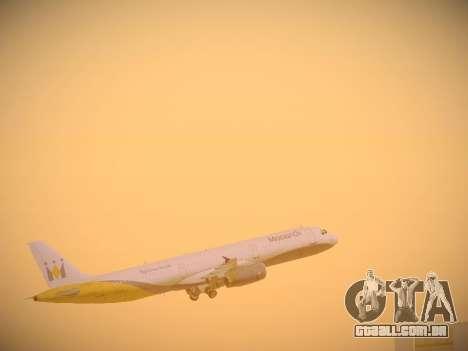 Airbus A321-232 Monarch Airlines para o motor de GTA San Andreas