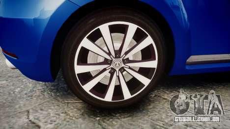 Volkswagen Beetle A5 Fusca para GTA 4 vista de volta