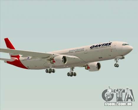 Airbus A330-300 Qantas (New Colors) para GTA San Andreas traseira esquerda vista