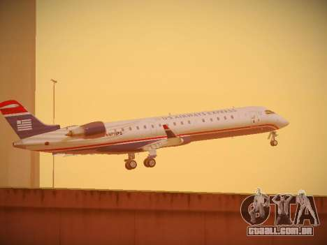 Bombardier CRJ-700 US Airways Express para GTA San Andreas vista superior