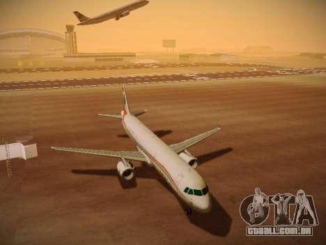 Airbus A321-232 Middle East Airlines para GTA San Andreas esquerda vista