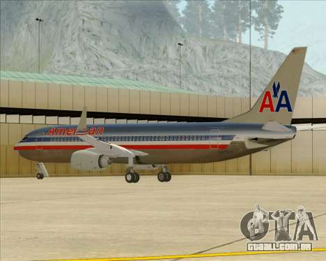 Boeing 737-800 American Airlines para as rodas de GTA San Andreas