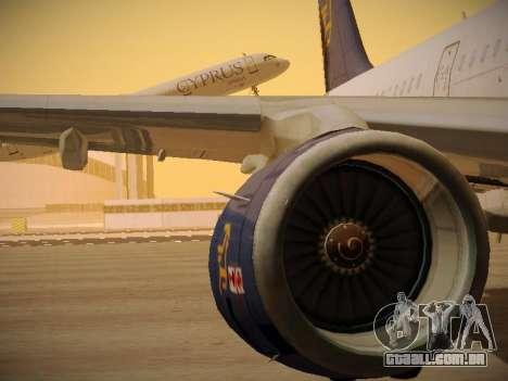 Airbus A321-232 Cyprus Airways para as rodas de GTA San Andreas