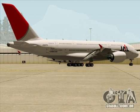 Airbus A380-800 Japan Airlines (JAL) para GTA San Andreas vista interior