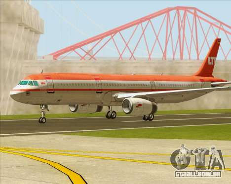Airbus A321-200 LTU International para vista lateral GTA San Andreas