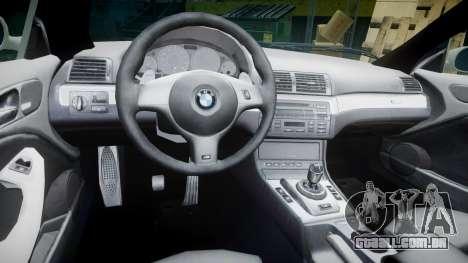 BMW M3 E46 2001 Tuned Wheel White para GTA 4 vista de volta