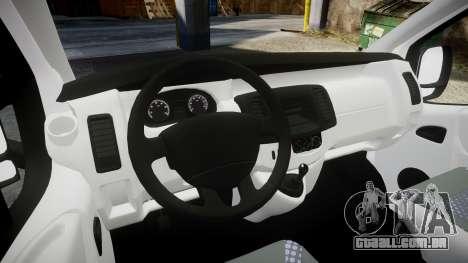 Renault Trafic Police Nationale para GTA 4 vista de volta