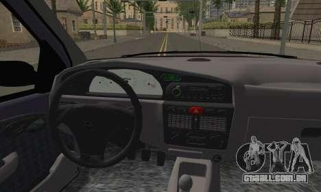 Fiat Palio EDX 1997 para GTA San Andreas traseira esquerda vista