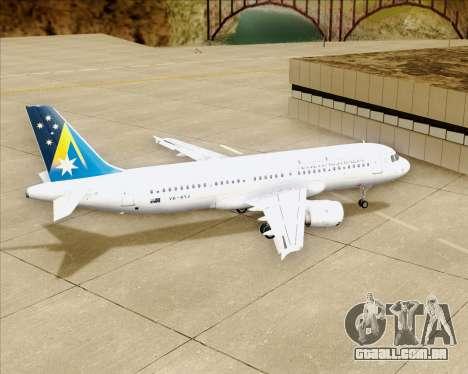 Airbus A320-200 Ansett Australia para GTA San Andreas vista superior