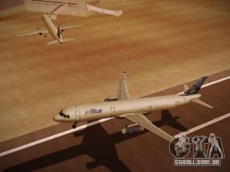 Airbus A321-232 jetBlue Do-be-do-be-blue para vista lateral GTA San Andreas