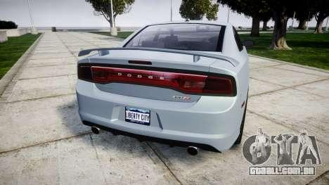 Dodge Charger SRT8 para GTA 4 traseira esquerda vista