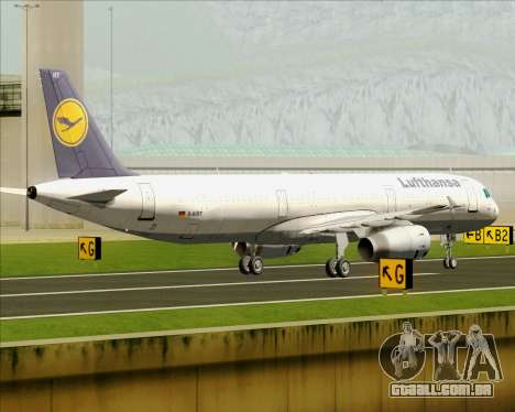 Airbus A321-200 Lufthansa para GTA San Andreas vista interior