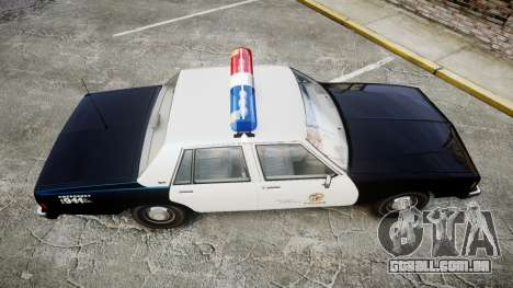 Chevrolet Impala 1985 LAPD [ELS] para GTA 4 vista direita