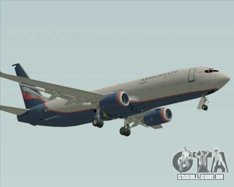 Boeing 737-8LJ Aeroflot - Russian Airlines para GTA San Andreas esquerda vista