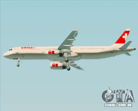 Airbus A321-200 Swiss International Air Lines para vista lateral GTA San Andreas