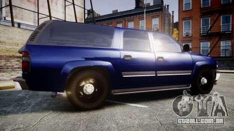 Chevrolet Suburban Undercover 2003 Grey Rims para GTA 4 esquerda vista