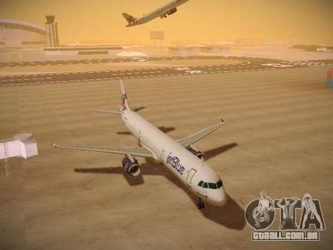 Airbus A321-232 jetBlue I love Blue York para GTA San Andreas vista traseira
