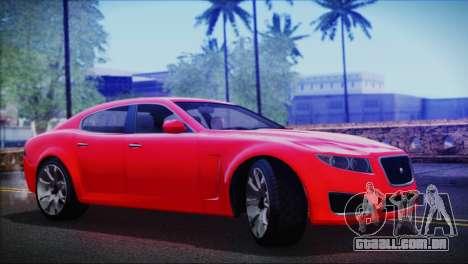 Lampadati Felon para GTA San Andreas traseira esquerda vista