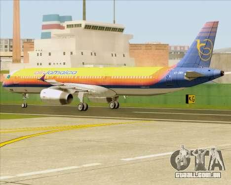 Airbus A321-200 Air Jamaica para GTA San Andreas vista traseira