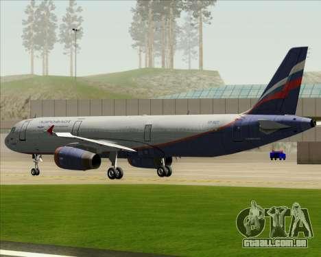 Airbus A321-200 Aeroflot - Russian Airlines para vista lateral GTA San Andreas