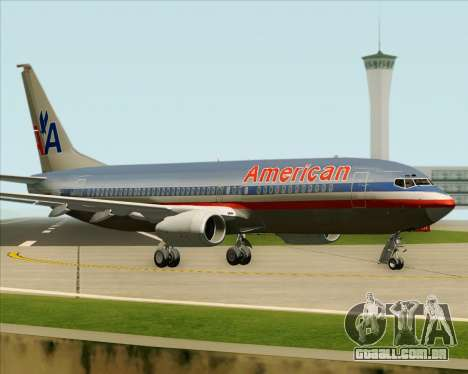Boeing 737-800 American Airlines para vista lateral GTA San Andreas