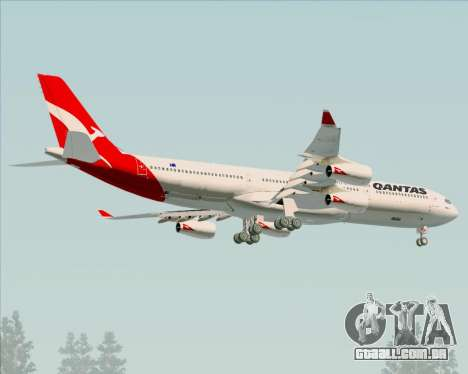 Airbus A340-300 Qantas para as rodas de GTA San Andreas