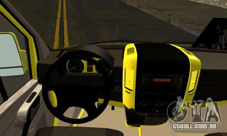 Mercedes-Benz Sprinter Eyüp Expirou para GTA San Andreas traseira esquerda vista