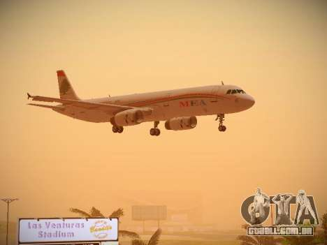 Airbus A321-232 Middle East Airlines para GTA San Andreas vista interior