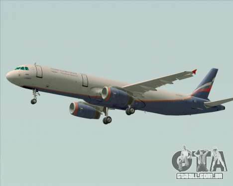 Airbus A321-200 Aeroflot - Russian Airlines para GTA San Andreas traseira esquerda vista