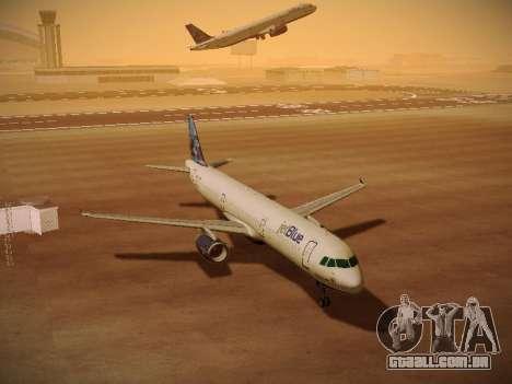 Airbus A321-232 jetBlue Do-be-do-be-blue para GTA San Andreas vista superior