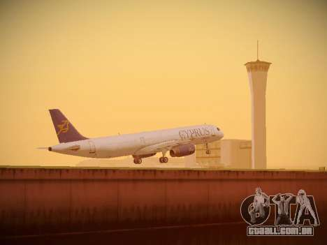 Airbus A321-232 Cyprus Airways para GTA San Andreas interior