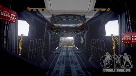 VTOL Warship PJ1 para GTA 4 vista de volta
