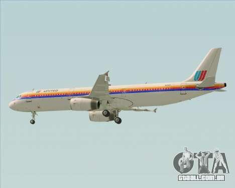 Airbus A321-200 United Airlines para o motor de GTA San Andreas
