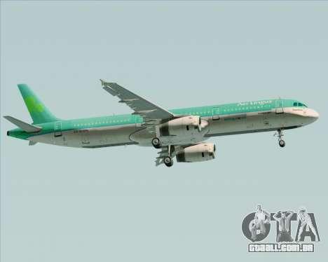 Airbus A321-200 Aer Lingus para GTA San Andreas vista traseira