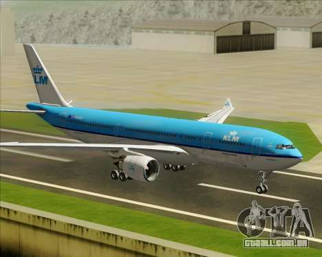 Airbus A330-200 KLM - Royal Dutch Airlines para GTA San Andreas vista interior