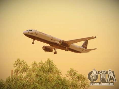Airbus A321-232 jetBlue Airways para o motor de GTA San Andreas
