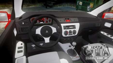 Mitsubishi Lancer Evolution IX Fast and Furious para GTA 4 vista interior
