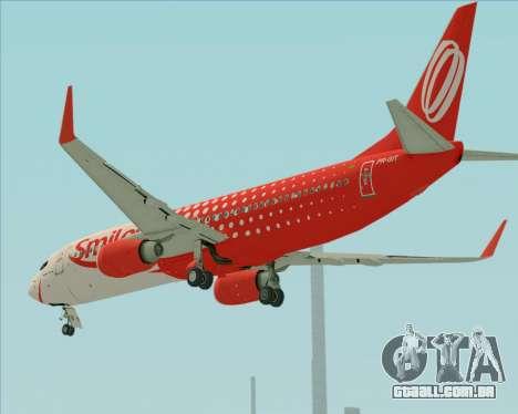 O Boeing 737-800 da Gol Transportes Aéreos para as rodas de GTA San Andreas