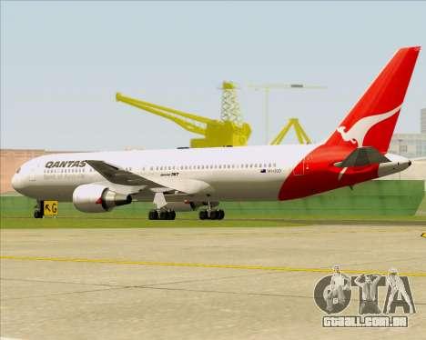 Boeing 767-300ER Qantas (Old Colors) para GTA San Andreas vista traseira