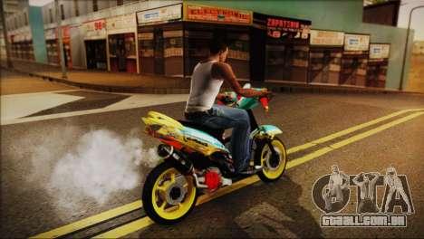 Yamaha Mio BiNgọc para GTA San Andreas traseira esquerda vista