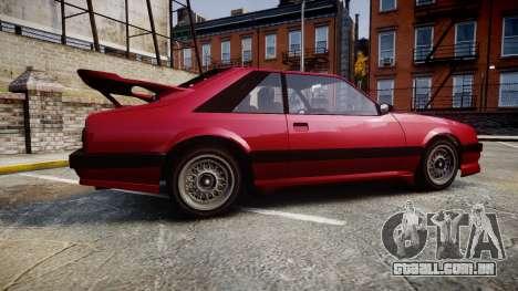 Vapid Uranus Custom para GTA 4 esquerda vista