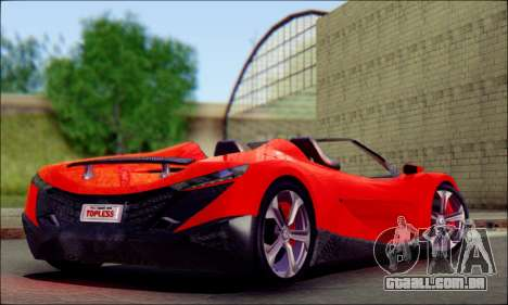 Specter Roadster 2013 para GTA San Andreas esquerda vista