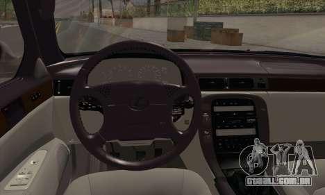 Lexus SC300 para GTA San Andreas traseira esquerda vista