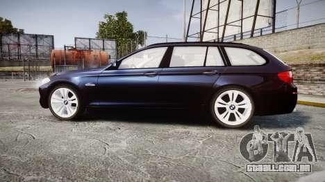 BMW 530d F11 Unmarked Police [ELS] para GTA 4 esquerda vista