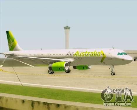 Airbus A321-200 Air Australia para GTA San Andreas vista traseira