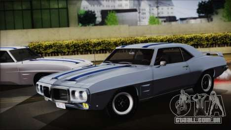 Pontiac Firebird Trans Am Coupe (2337) 1969 para GTA San Andreas