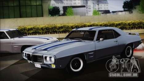 Pontiac Firebird Trans Am Coupe (2337) 1969 para GTA San Andreas